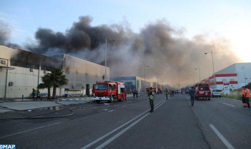 Tanger Free Zone : Un incendie maîtrisé dans une unité industrielle