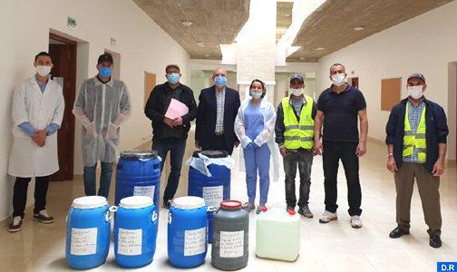 Al Hoceima: Remise du deuxième lot de désinfectants contre le coronavirus