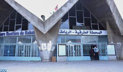 Gare routière Kamra de Rabat: les voyageurs ravis de retrouver leurs proches