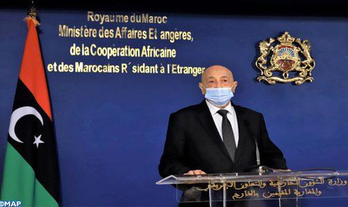 """Le président de la Chambre des représentants libyenne apprécie """"hautement"""" le rôle du Royaume dans le soutien de son pays pour sortir de sa crise"""