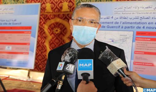 M. El Hafidi : Le projet d'eau potable mis en service à Guercif revêt une très grande importance