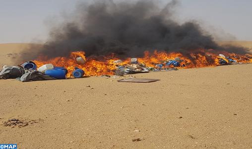 Près de 12 tonnes de drogue incinérées à Laâyoune