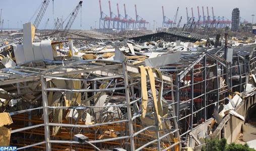Explosion à Beyrouth: 15 milliards de dollars de pertes (président)