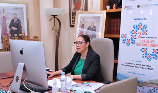 Les villes intermédiaires contribuent à la structuration de l'armature urbaine nationale (Mme Bouchareb)