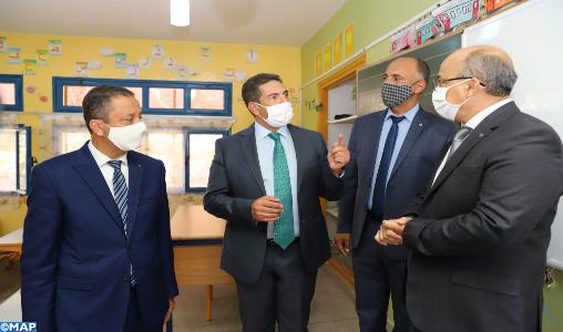 Skhirat-Témara: M. Amzazi prend connaissance des mesures mises en oeuvre pour la rentrée scolaire