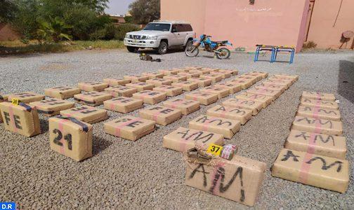 Guelmim: mise en échec d'une opération de trafic international de drogue, 1 tonne et 603 kg de chira saisie (DGSN)
