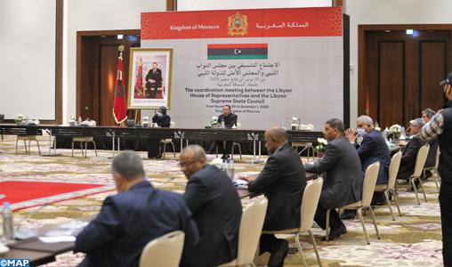 Début à Tanger de la réunion de coordination entre la Chambre des représentants libyenne et le Haut conseil d'État libyen