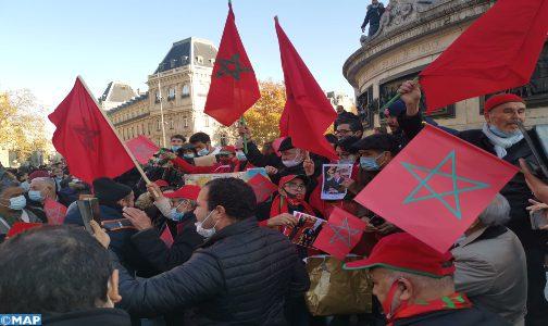 Sahara: la diaspora marocaine manifeste à Paris en soutien à l'intervention marocaine à El Guerguarat