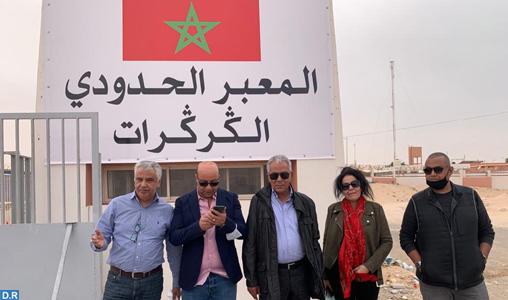 Sahara: Une délégation de l'ANME en visite de soutien aux FAR à Guerguarat