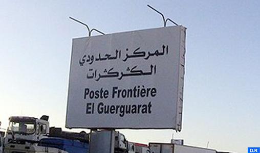 Guerguarate: Les FAR mettent en place un cordon de sécurité en vue de sécuriser le flux des biens et des personnes