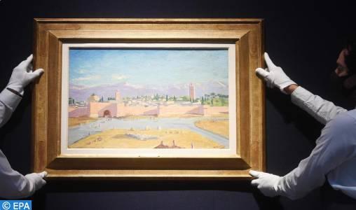 Une toile de Winston Churchill représentant la mosquée Koutoubia présentée aux enchères à Londres