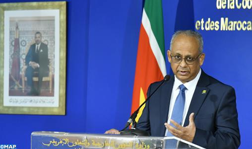 """Le Suriname réitère son soutien """"inébranlable"""" à la marocanité du Sahara (ministre)"""
