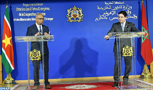 Le Suriname annonce l'ouverture prochaine d'une ambassade à Rabat et d'un consulat à Dakhla