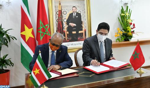 Le Maroc et le Suriname établissent une feuille de route de coopération pour la période 2021-2024