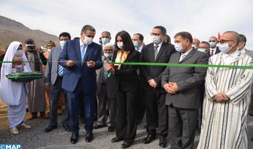 Tiznit : M.Akhannouch et Mme Fettah Alaoui s'enquièrent de la mise en œuvre du programme du développement de la vallée d'Ait Mansour