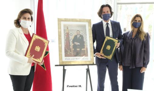 Son Altesse la Princesse Lalla Zineb reçoit à Rabat M. Marco Azran, DG du Groupe Orchestra Maroc