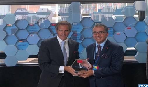 Rénovation des laboratoires de l'AIEA pour les applications nucléaires (ReNuAl+) : Remise au Maroc d'une plaque en tant que contributeur au projet