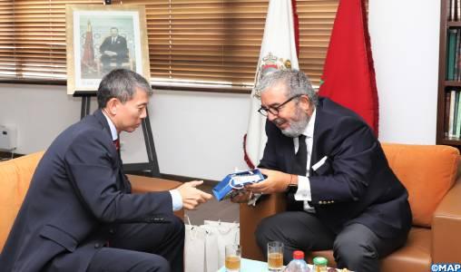 Le DG de la MAP s'entretient avec l'ambassadeur de la République de Corée au Maroc