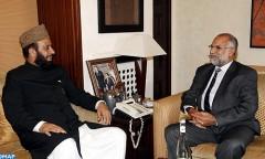 السيد عبد الله باها يجري مباحثات مع الوزير الفيدرالي للشؤون الدينية والوئام بين الأديان بجمهورية باكستان