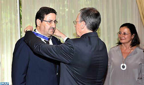 """توشيح الخليفة الأول لرئيس مجلس المستشارين بوسام """"ريو برانكو"""" الذي تمنحه الحكومة البرازيلية"""