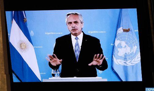 """الأرجنتين """"خضعت لديون سامة وغير مسؤولة إزاء صندوق النقد الدولي"""" (الرئيس الارجنتيني)"""