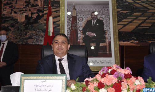 انتخاب عادل بركات، عن حزب الأصالة و المعاصرة، رئيسا لمجلس جهة بني ملال-خينفرة