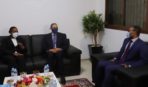 A Laâyoune, la chef de la diplomatie santoméenne se félicite des relations multidimensionnelles avec le Maroc
