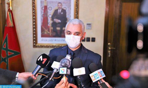 Réunion pour l'examen de la situation épidémiologique et le déroulement de la campagne de vaccination anti-Covid-19 à Marrakech-Safi